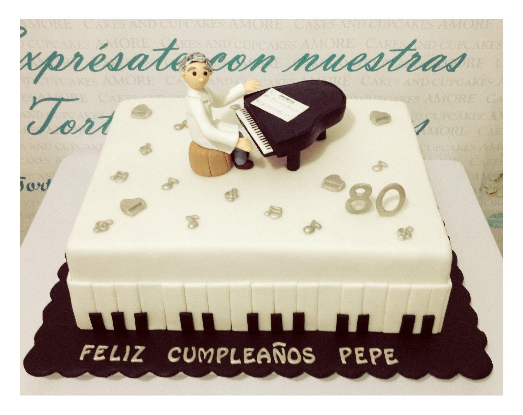 Torta Doctor Pianista | tortas de cumpleaños | Pinterest | Recipes