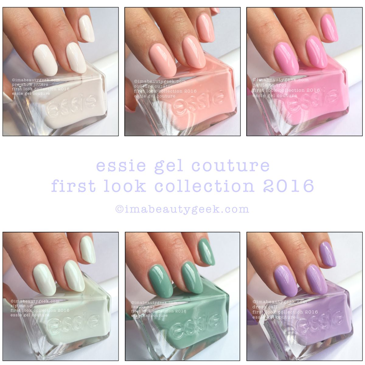 Essie Gel Couture First Look Collection 2016. All The