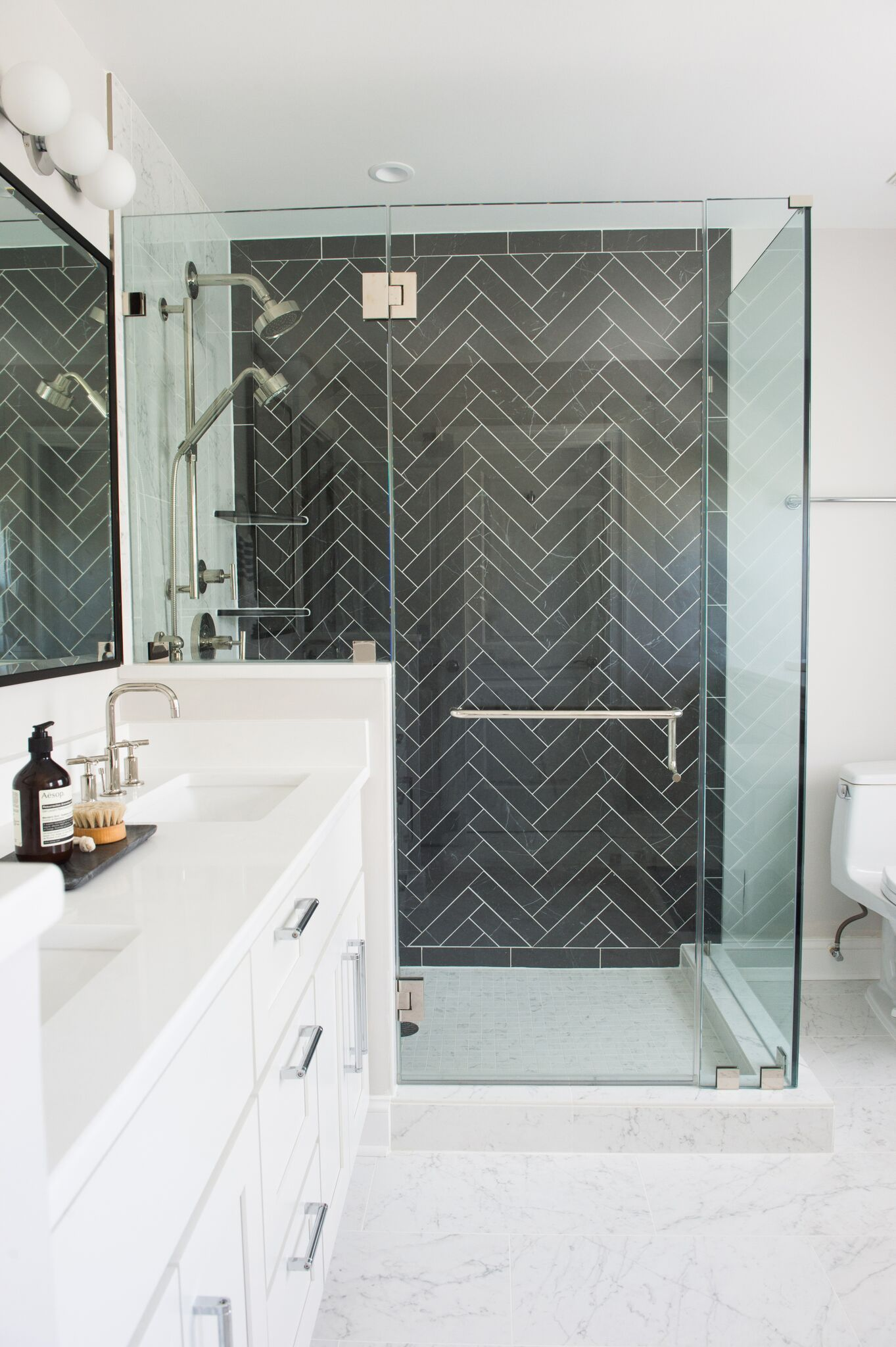 4x12 Herringbone Tile Floor