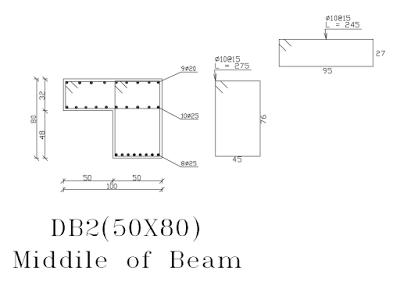 Beam detail - AutoCAD (DWG) | Engineering in 2019 | Beams