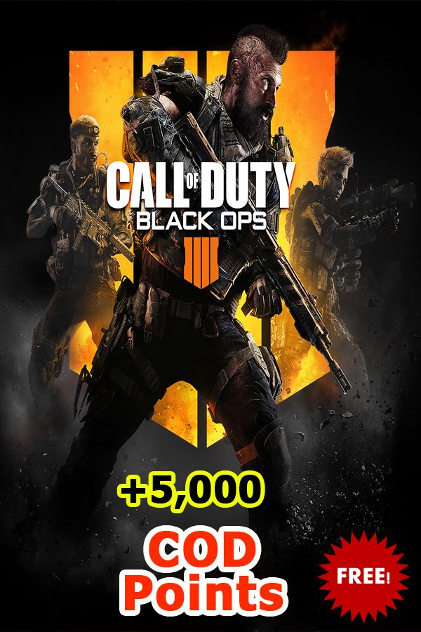 Get Free Call Of Duty Black OPS 4 COD Points. Just click on ... -
