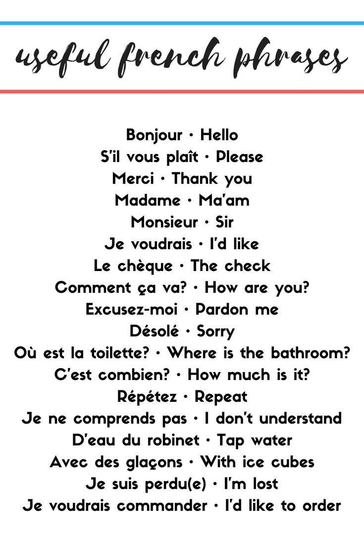 Useful French Phrases Useful french phrases, How to