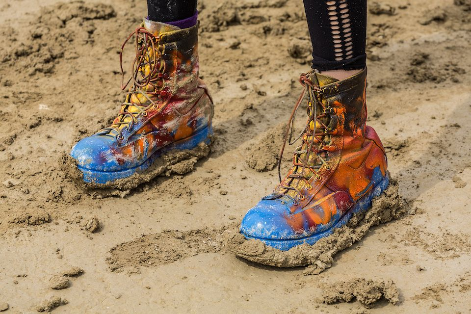 Colorful And Muddy Boots (Burning Man 2014 Photos – Duncan.co)