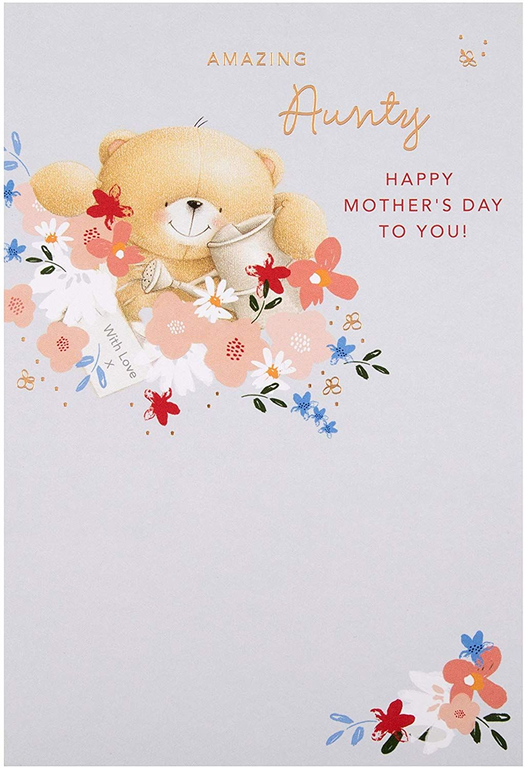 Mother S Day Card For Aunty From Hallmark Cute Forever Friends Design Amazon Co Uk Office Products In 2020 Forever Friends Cards Happy Mothers Day Cards