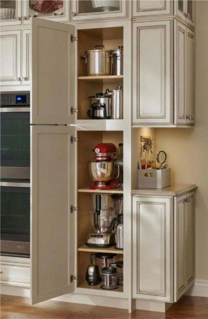 48 gorgeous corner cabinet storage ideas for your kitchen 34 #newkitchencabinets
