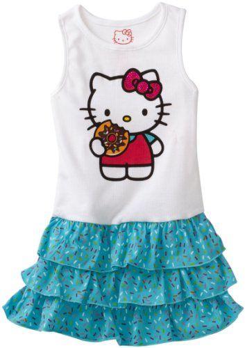 d1fd7ed1b Hello Kitty Girls 2-6X Cupcake And Sugar Glitter On Knit Dress $14.99