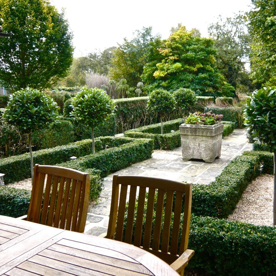 Simple Garden: A Simple Knot Garden I Created In Oxfordshire