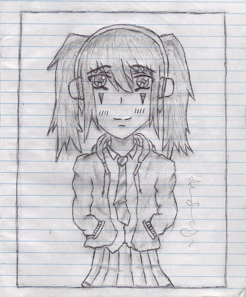 Anime Girl with Headphones Anime Girl With Headphones