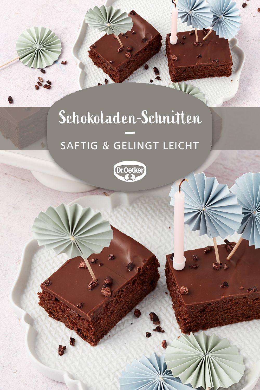 Saftige Schokoladen-Schnitten