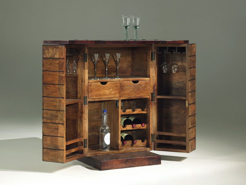 Pallet mini bar wooden minibar art deco pallets for Bar meuble design