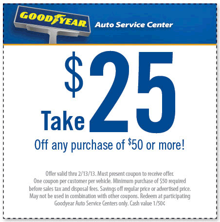 25 Off 50 At Goodyear Coupon Via The Coupons App Coupon Apps Printable Coupons Goodyear
