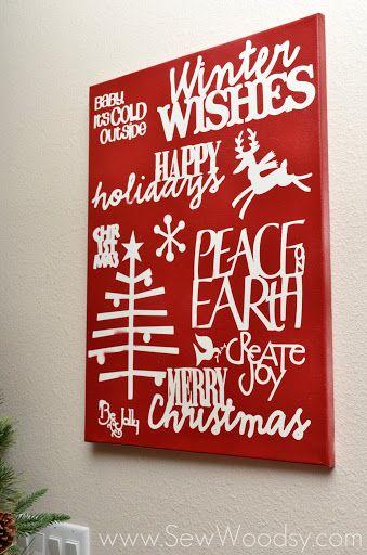 Christmas DIY Canvas Subway Wall Art   CHRISTMAS ...