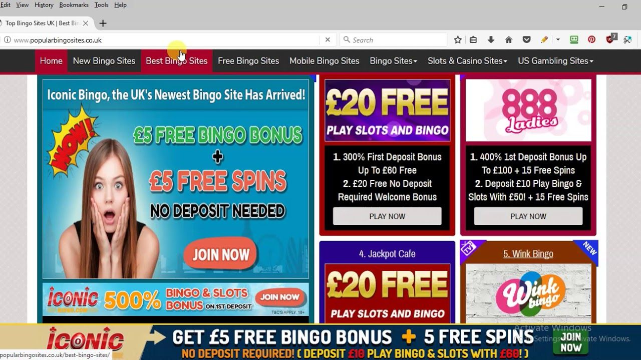 Bingo sites free sign up bonus uk roulette hawk method