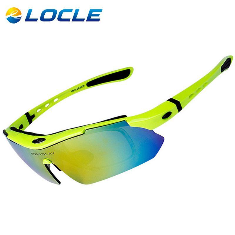 LOCLE 전문 사이클링 안경 UV400 편광 자전거 안경 자전거 자전거 안경 선글라스 Gafas Cicismo 고글 5 렌즈