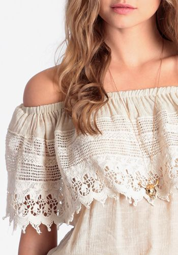 Crocheted Off The Shoulder Top