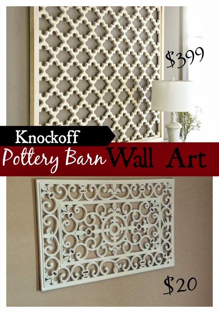 DIY Pottery Barn Wall Art Knockoff | wall art | Pinterest | Pottery ...