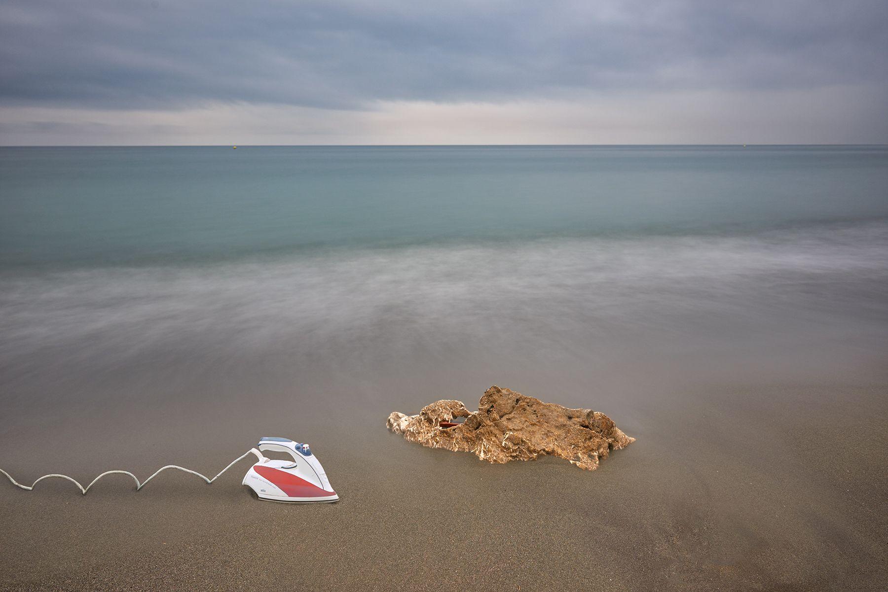 Arruga sobre la arena de la playa