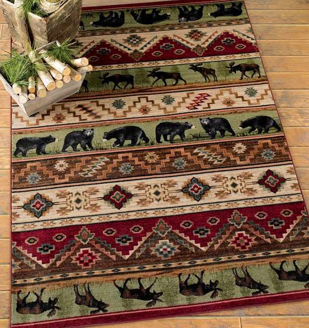 cottonwood lodge rug - 8 x 11 | cabin | pinterest | cabin and