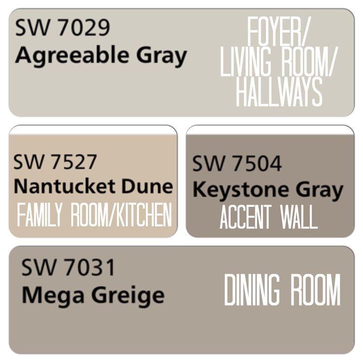 736 736 diy home - Wandfarbe greige ...