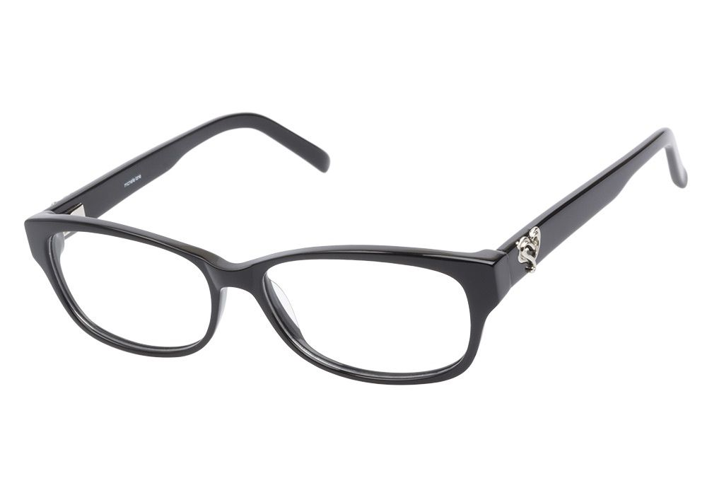 f75d6adfe7 Michelle Lane ML810 Black eyeglasses are girly and sophisticated. This  classic black frame has a faux cateye shape with oval lenses.