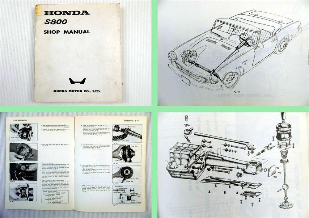 Honda S800 S800 C Coupe Shop Manual Werkstatthandbuch Reparaturanleitung Coupe Honda Ebay
