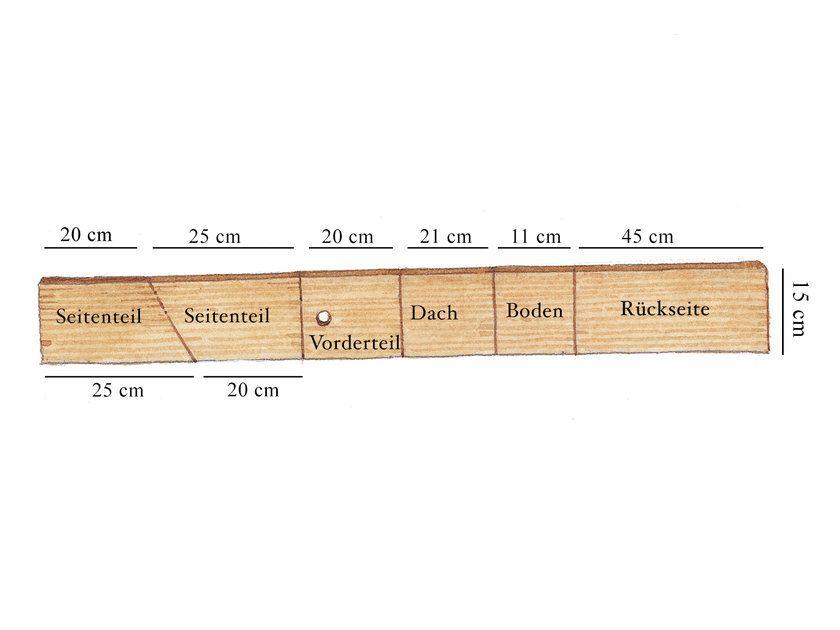 Holzleiste Mit Abschnitten In 2020 Nistkasten Selber Bauen Selber Bauen Schuppen Design