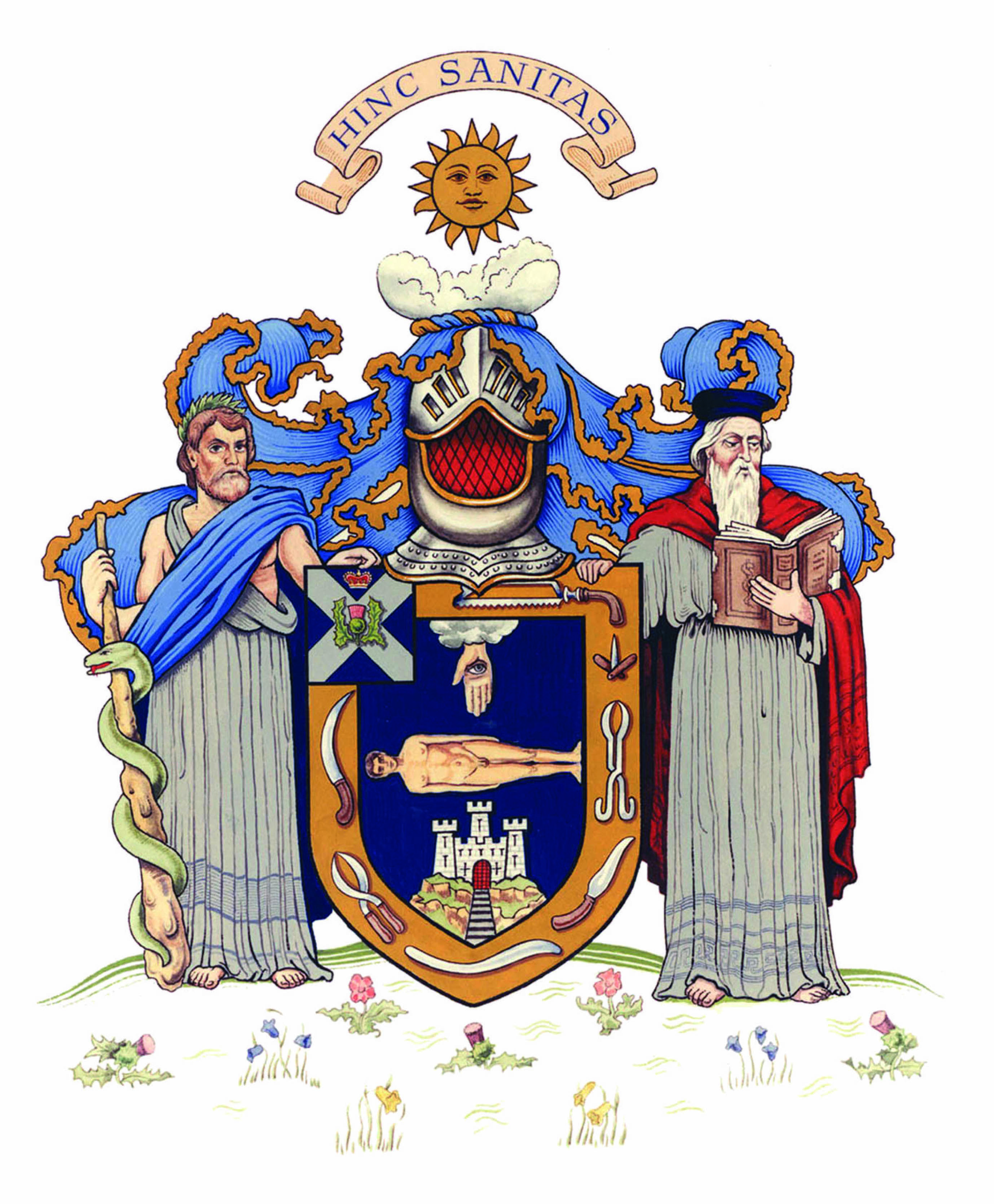 Royal College Of Surgeons Of Edinburgh Coat Of Arms Heraldry Arms