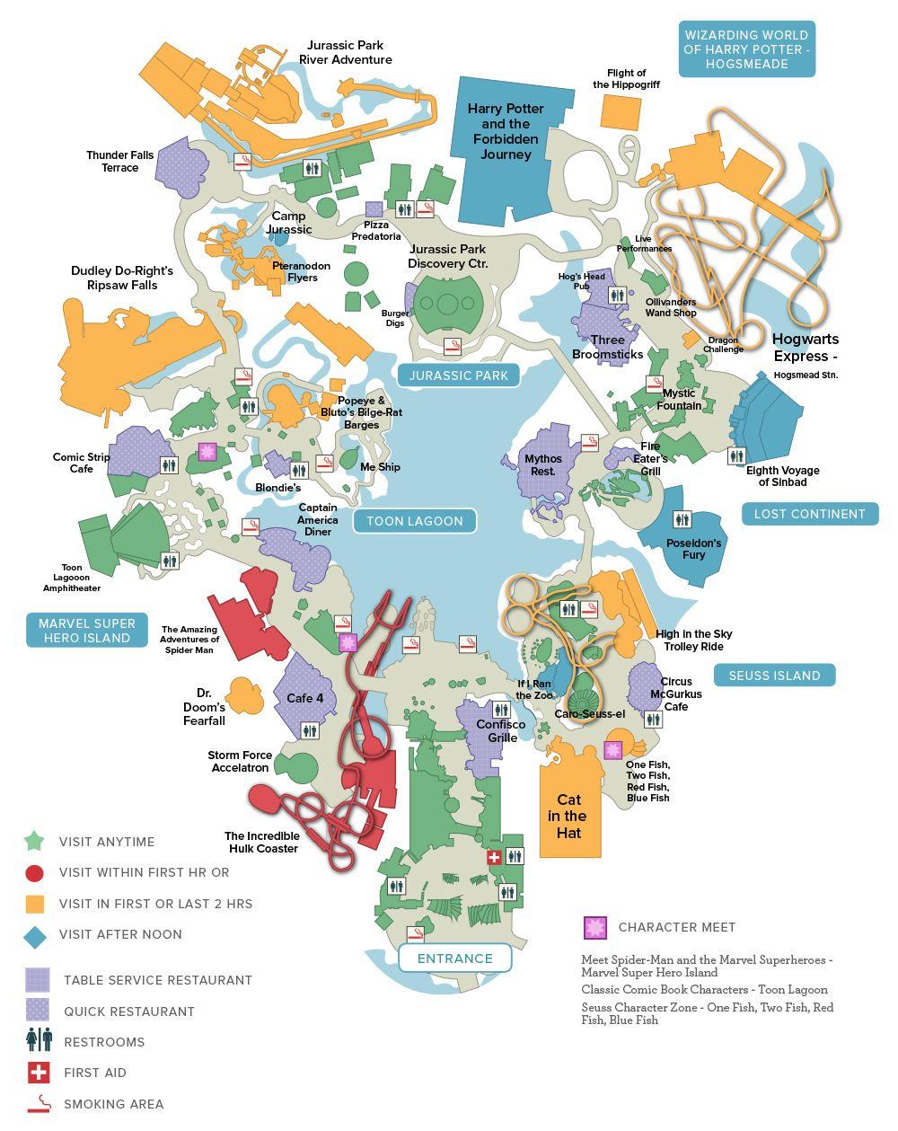 Map Of Universal Studios Florida.Islands Of Adventure Universal Orlando Discount Tickets