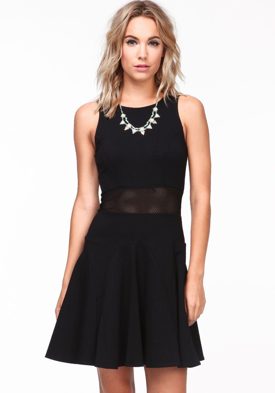 shopmodmint.com Crochet Waist Panel Dress $53