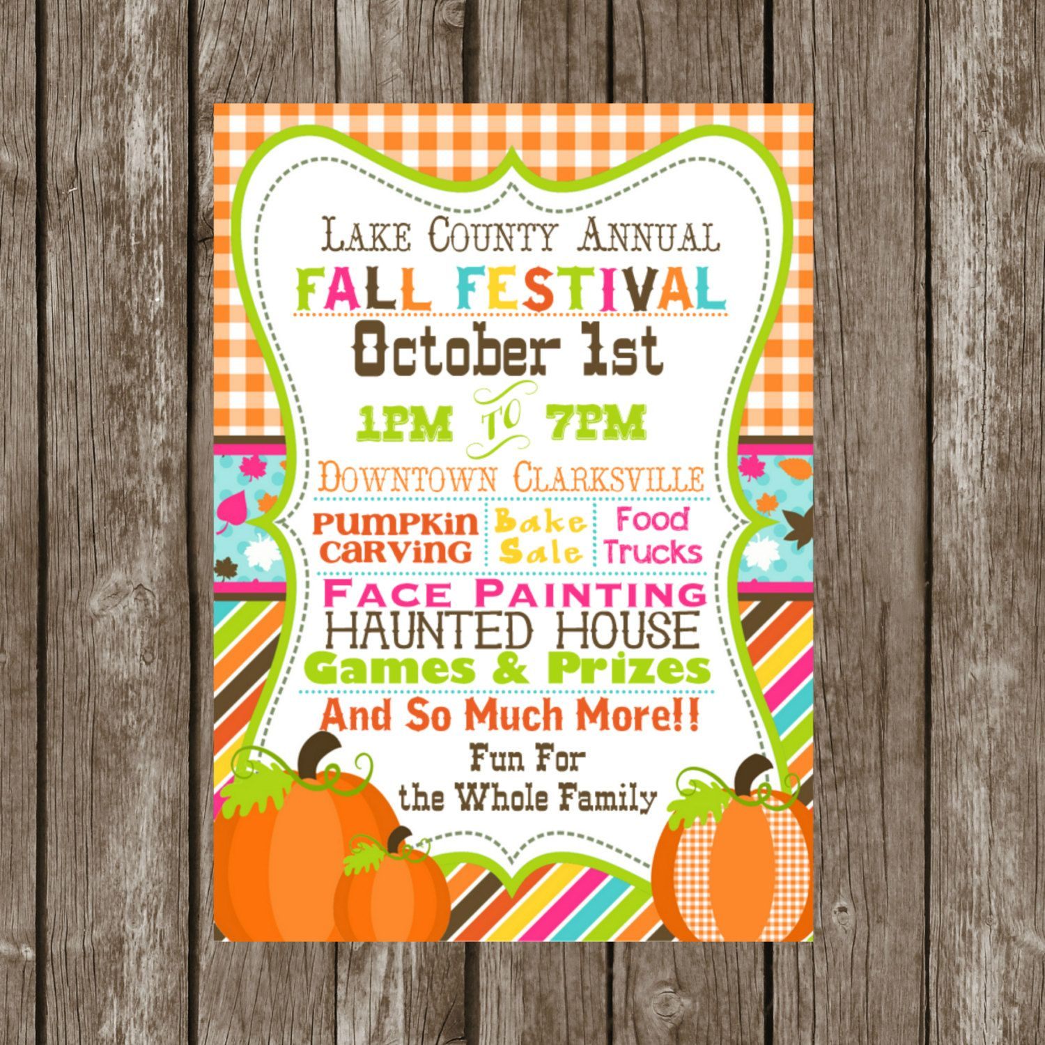Fall Festival DIY PRINTABLE Invitation By SJPInvitations On Etsy 1200 Party Invitations