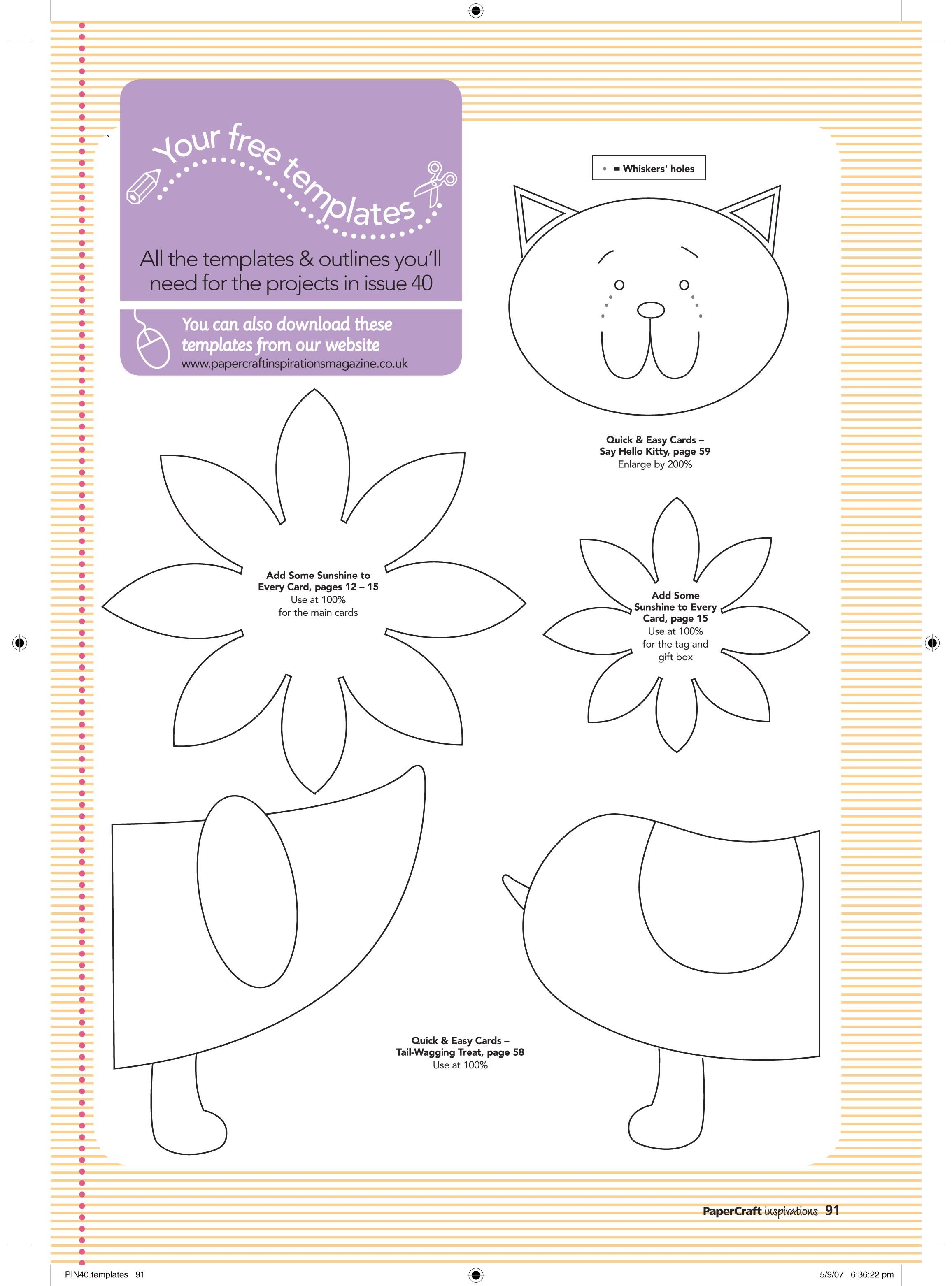 paper crafts templates | FREE November issue (40) templates ...