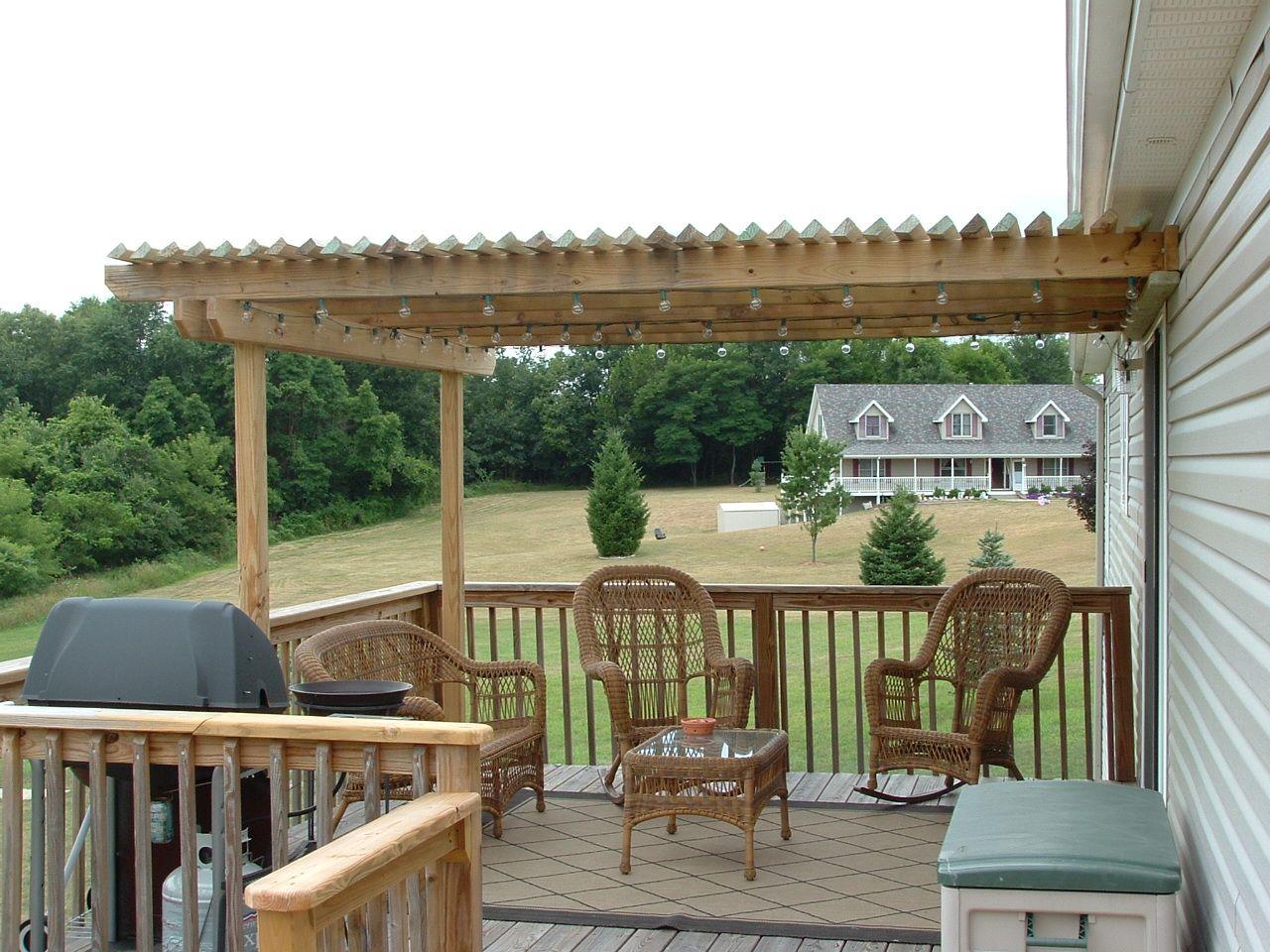 Pergola Added To Existing Deck Pergola Plans Roofs Building A Pergola Pergola Plans