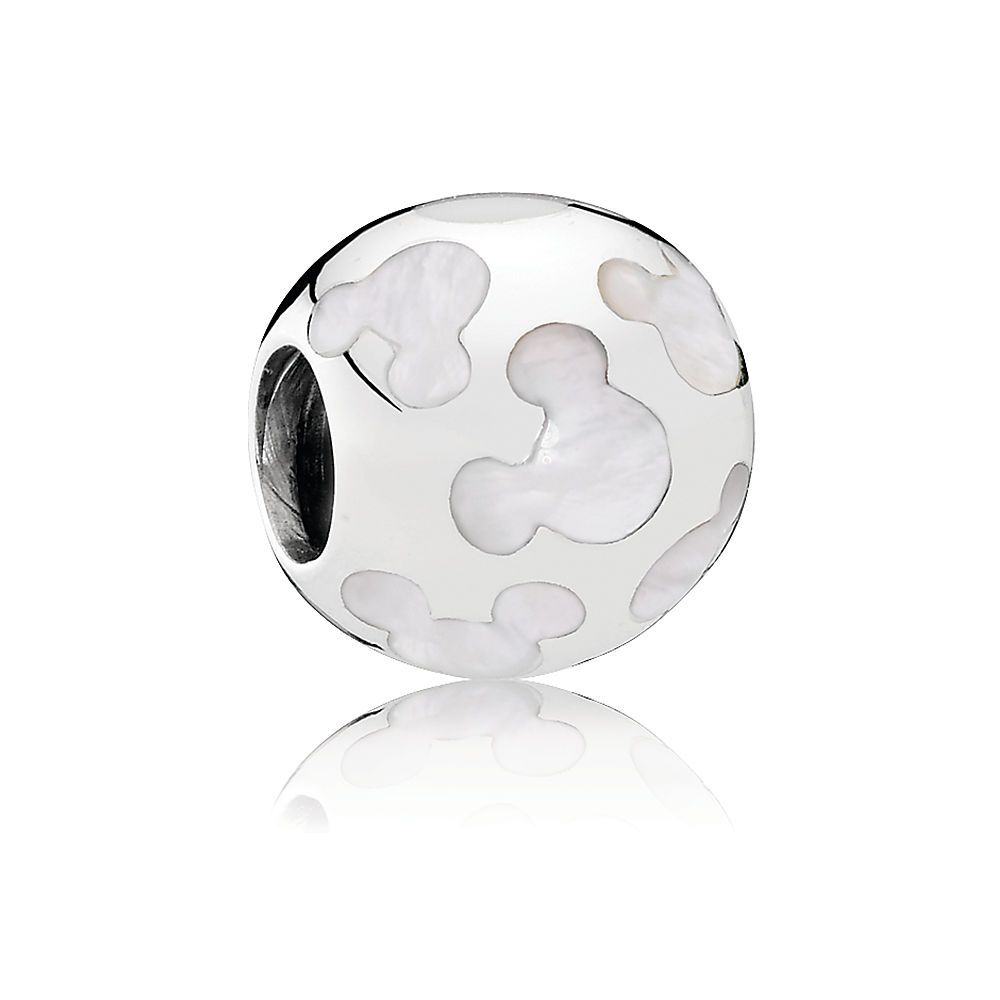 Pandora Bead 791818MOP Disney Mother of Pearl Mickey Luminous Silhouettes DW6UOd