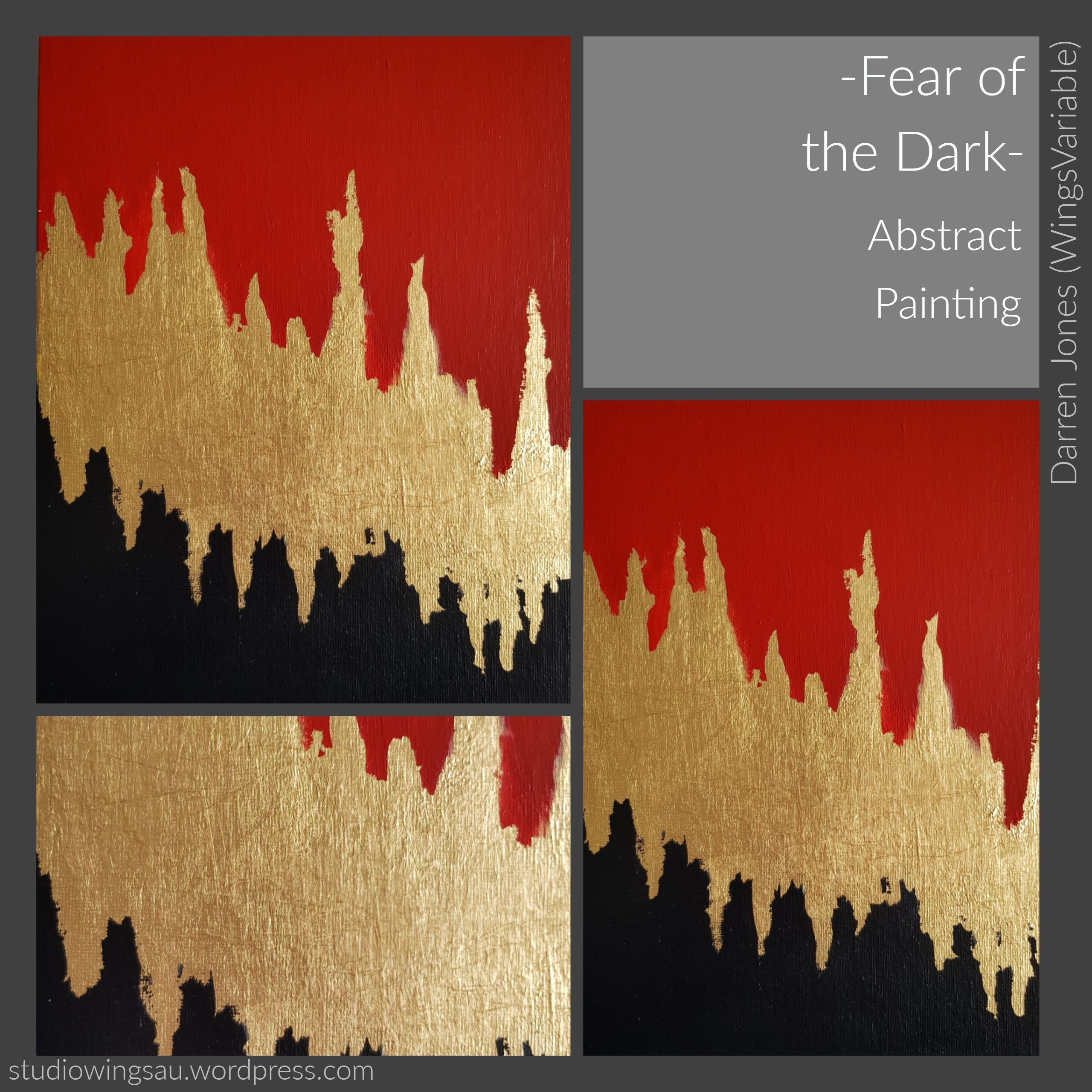 Fear Of The Dark Abstract Painting Acrylic Minimalist Wall Art Fear Of The Dark