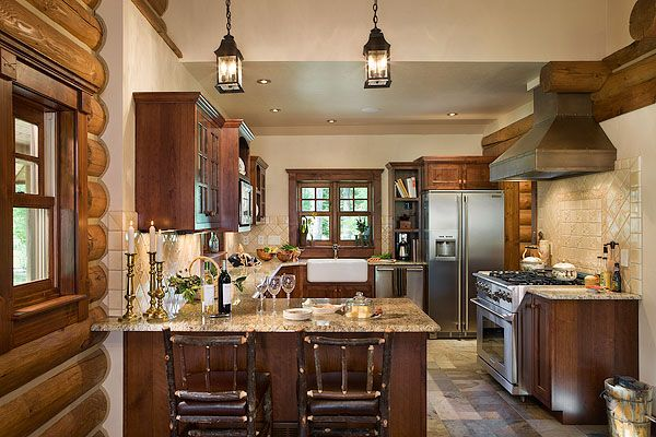 Marylee Loves The Bronze Hood Which She Designed And Had Custom Built Log Cabin KitchensRustic KitchensModern
