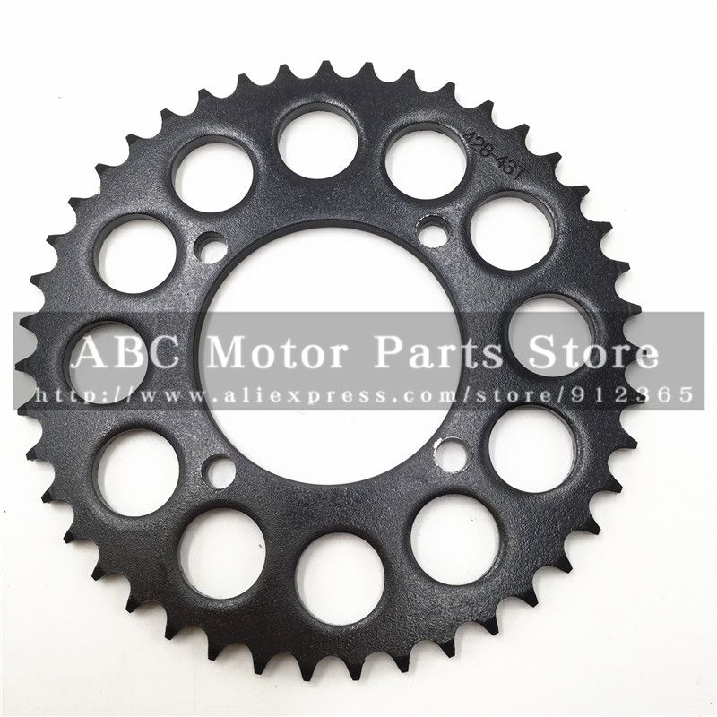 428 Chain rear sprocket 43 tooth 76mm centre hole for Dirt Pit - küchentisch und stühle