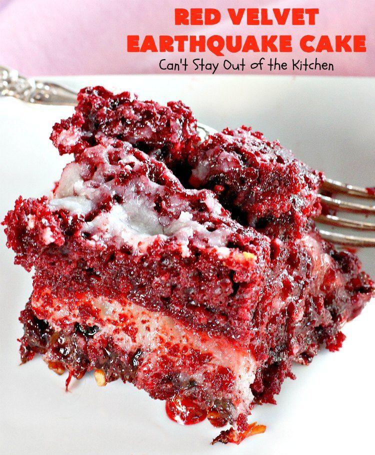 Red Velvet Earthquake Cake #redvelvetcake