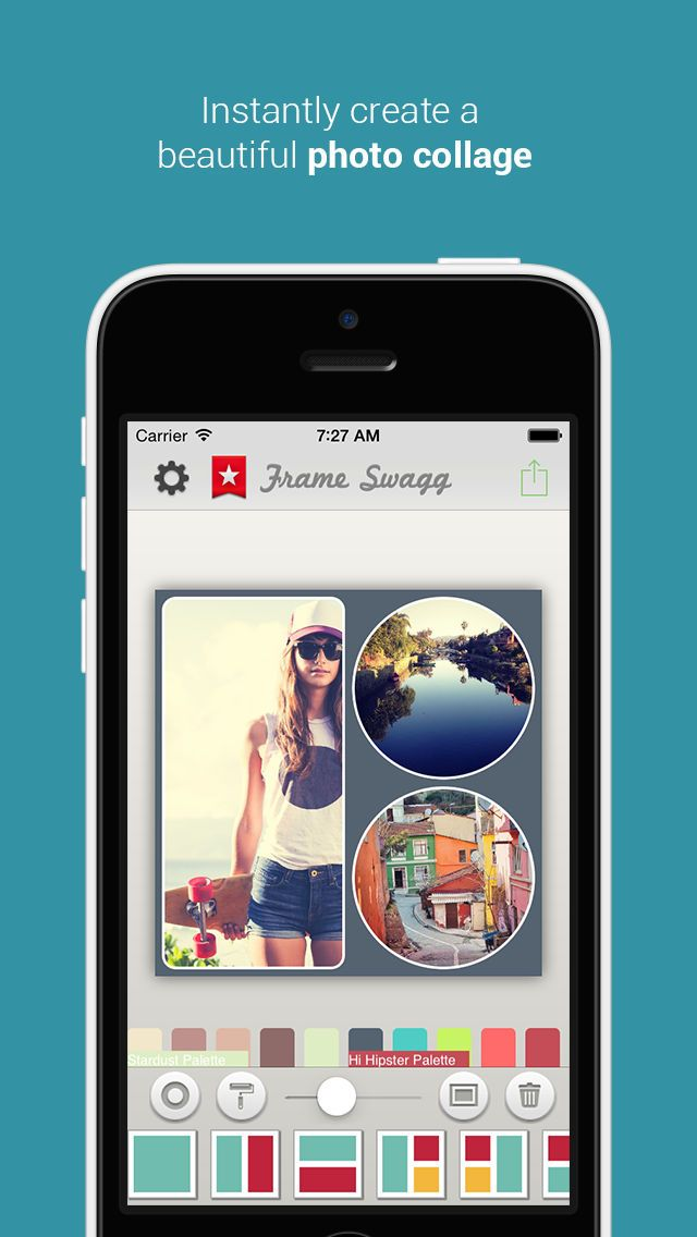 Frame Swagg Pro - Photo collage maker to stitch pic for Instagram ...