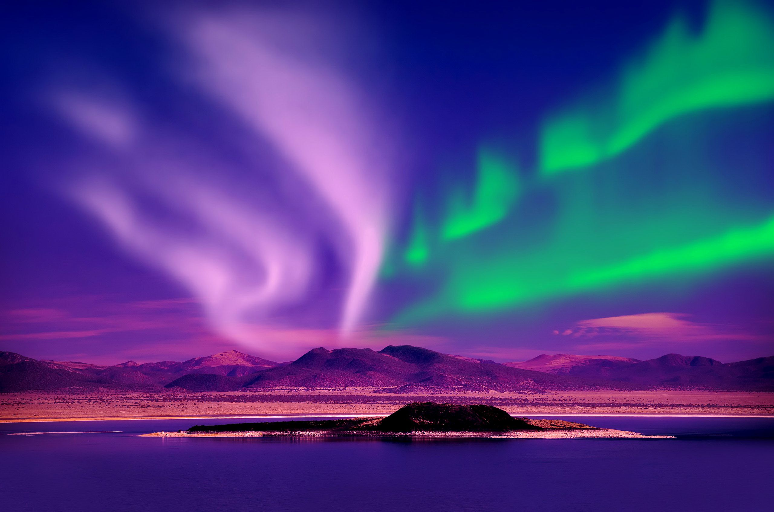 Purple Northern Lights Wallpaper Free 0xk0l 2560x1695 px