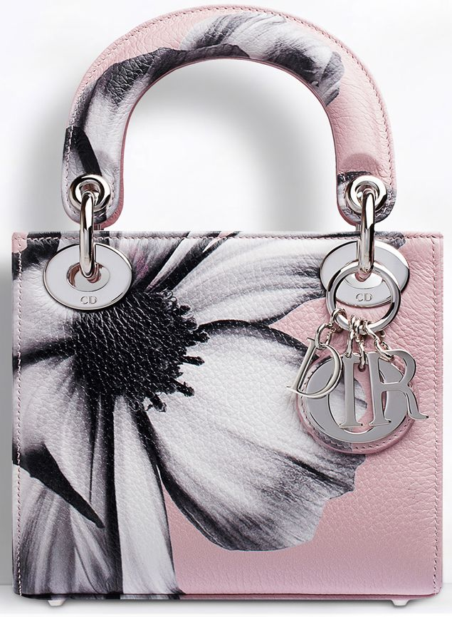 Lady Dior Pre-Fall 2014 bag in pink from the Printed Flower Collection.