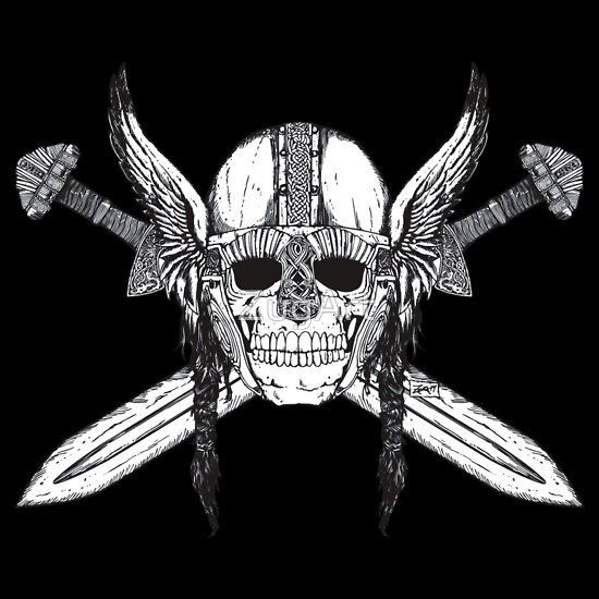 Viking warrior skull | Viking Tattoo Ideas | Pinterest ...