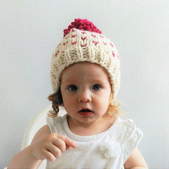 Fair Isle Hat Pattern // Hat Knitting Pattern // Little Hearts ...