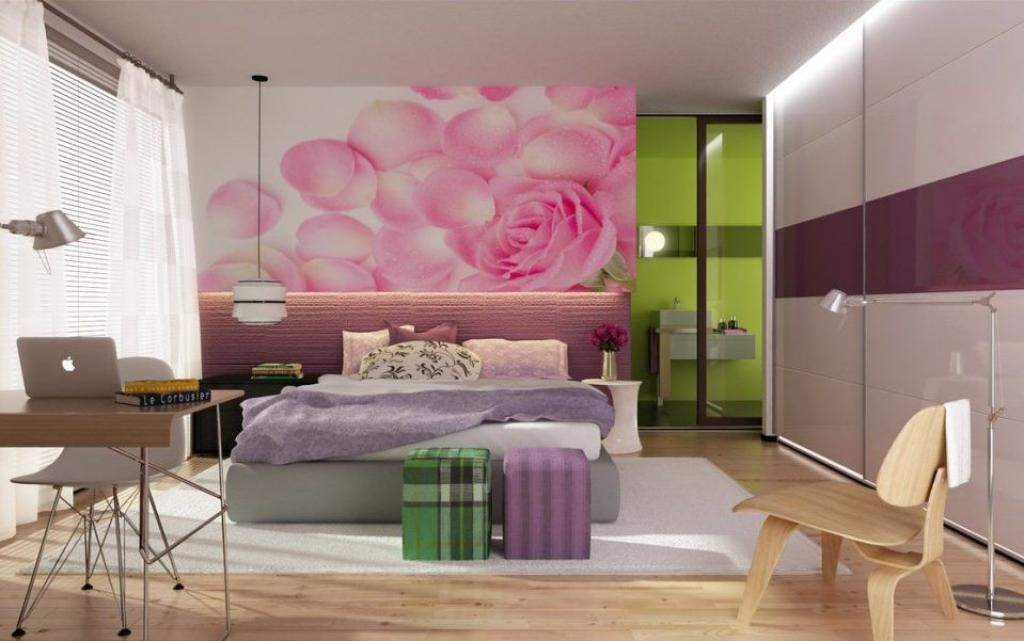 modern-rooms-for-teenage-girls-with-pink-rose-flower-petals ...