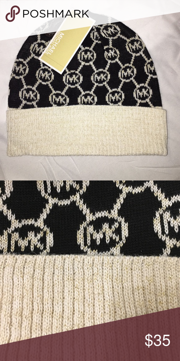 Michael Kors knit hat Knit hat with gold metallic thread accents Michael Kors Accessories Hats