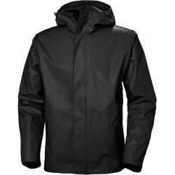 Photo of Helly Hansen Mens Moss Rain Winter Jacket Black Xxl