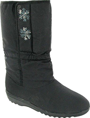 Female  Blizzard Boots Snowflake Black Size UK 4 EU 37 US 65 >>> This is an Amazon Affiliate link. Want additional info? Click on the image.