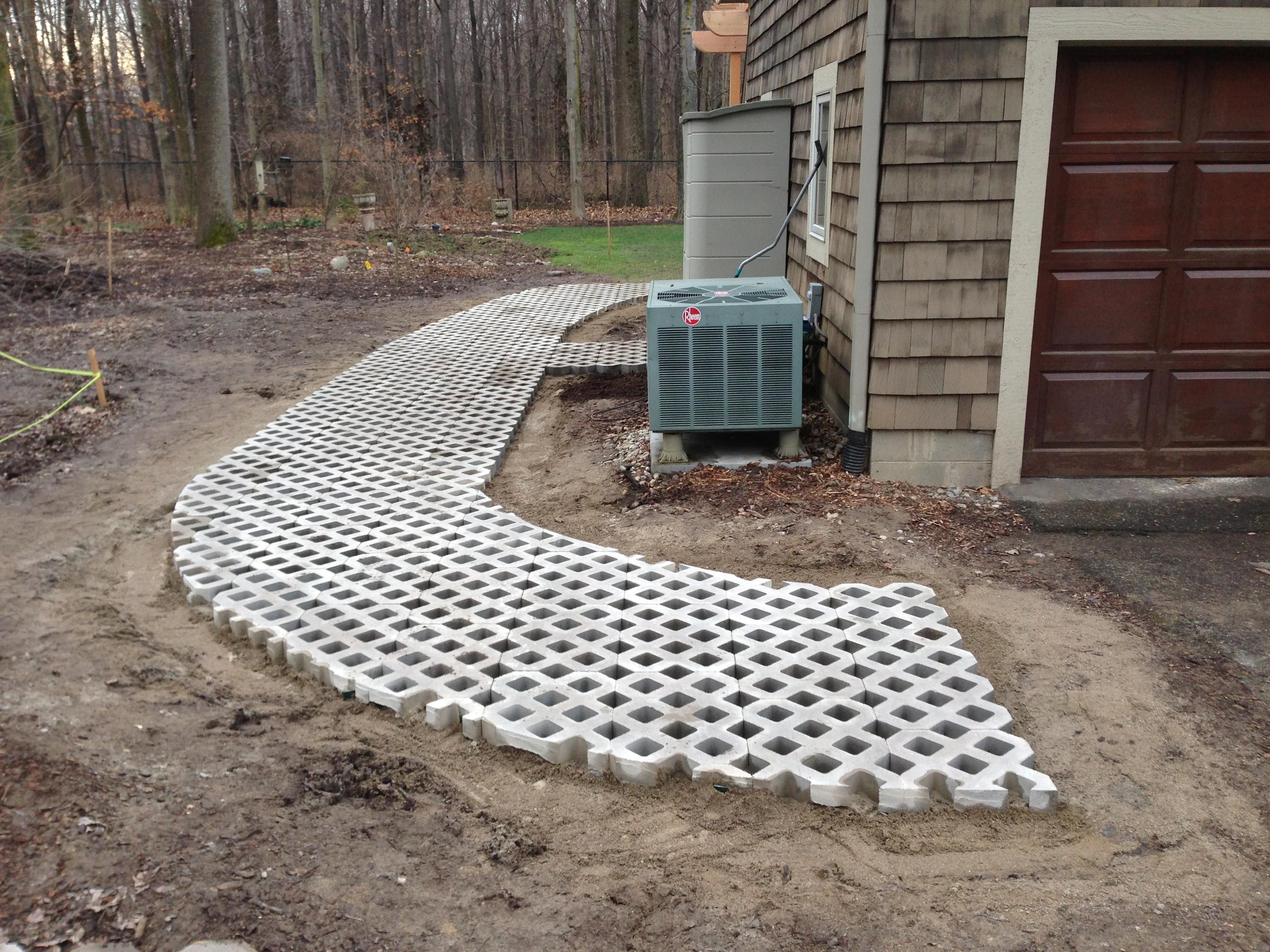 turf stone paver walkway | jed buxton design build | 327 exterior
