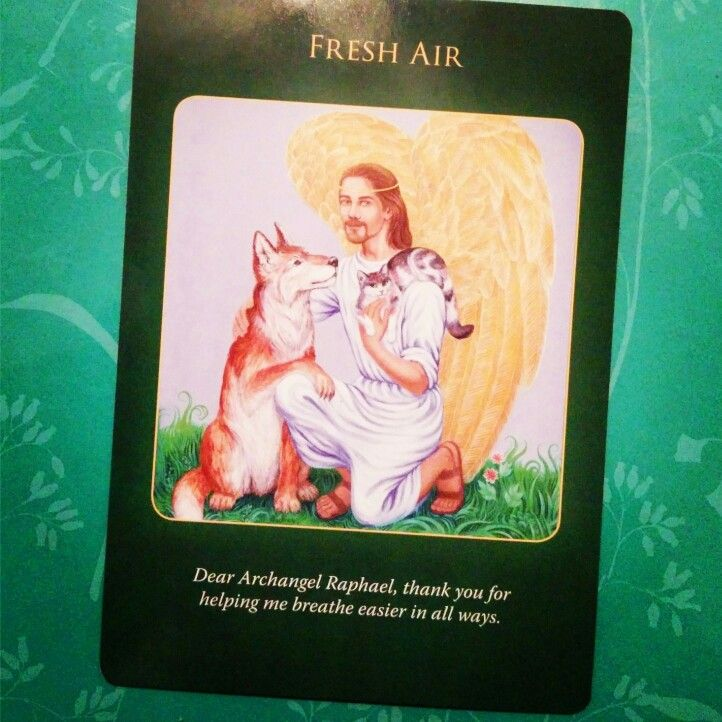 Fresh Air card from Archangel Raphael Healing Oracle Cards