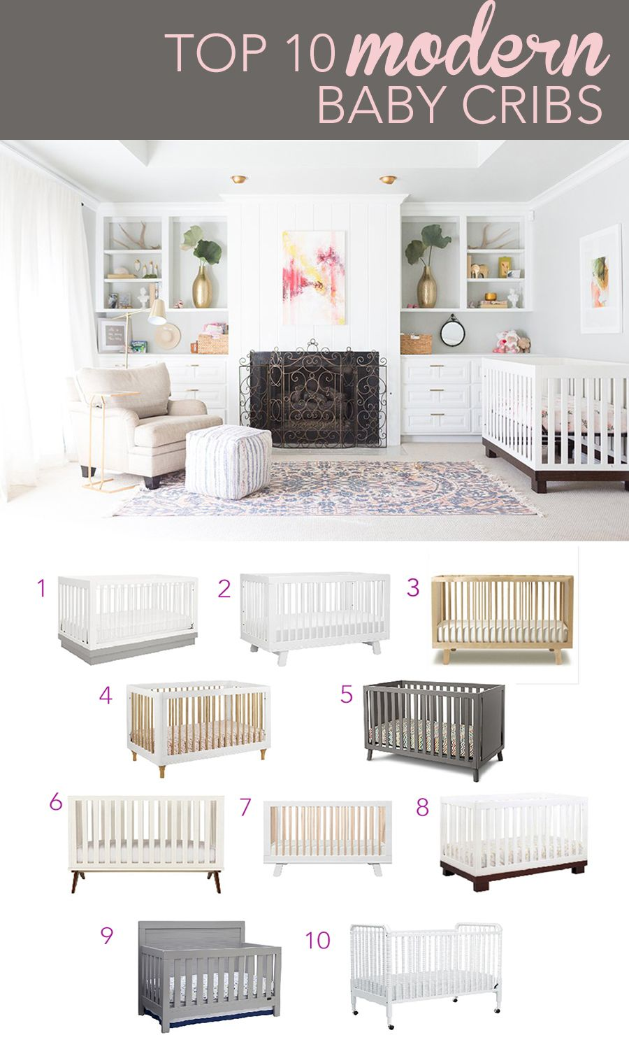Top 10 Modern Baby Cribs Cc And Mike Lifestyle And Design Blog Modern Baby Cribs Best Baby Cribs Baby Crib Designs