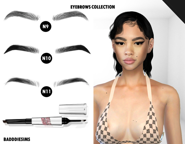 NATURAL EYEBROWS COLLECTION | BADDDIESIMS on Patre